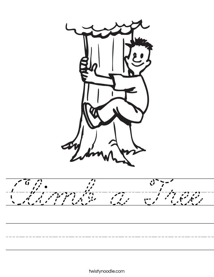 Climb a Tree Worksheet