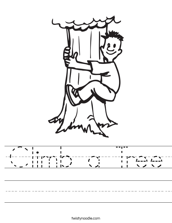 Climb a Tree Worksheet