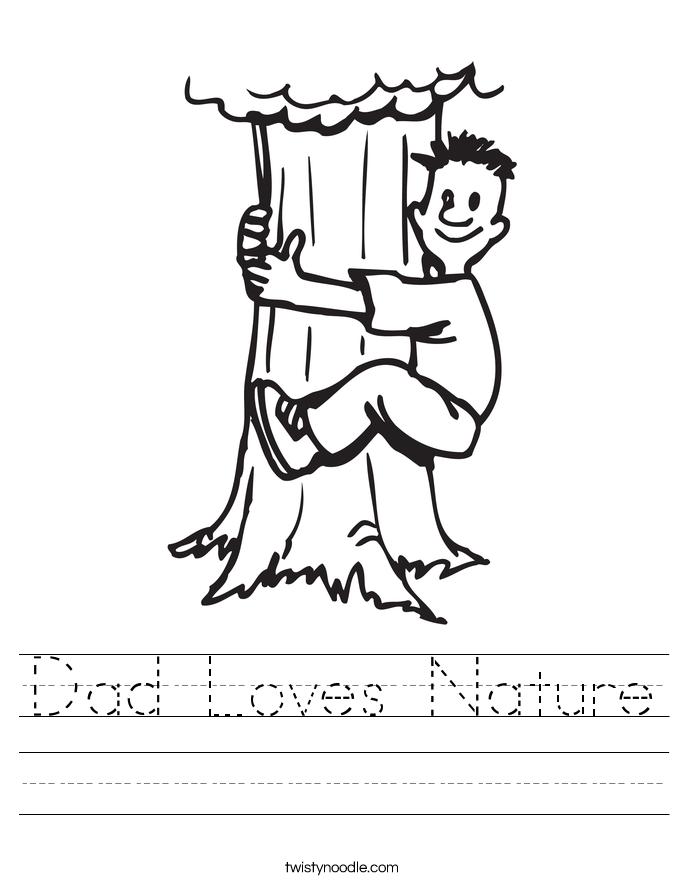 Dad Loves Nature Worksheet