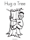 Hug a Tree Coloring Page