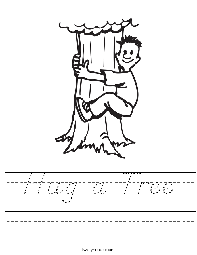 Hug a Tree Worksheet
