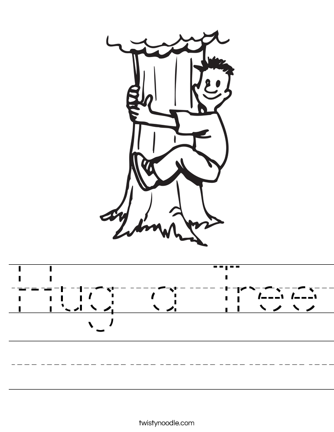 Hug a Tree Worksheet