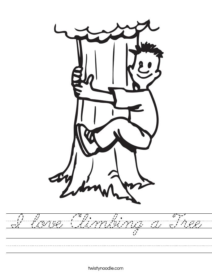 I love Climbing a Tree Worksheet