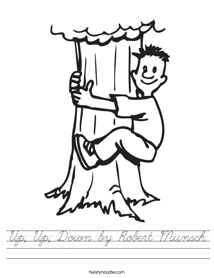Up, Up, Down by Robert Munsch Worksheet