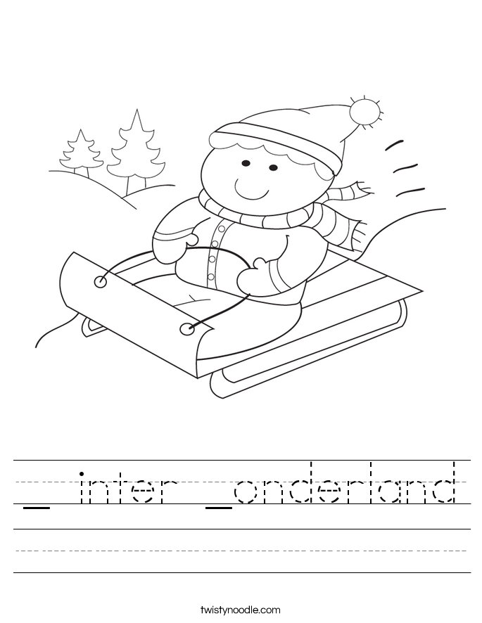 _ inter _onderland Worksheet