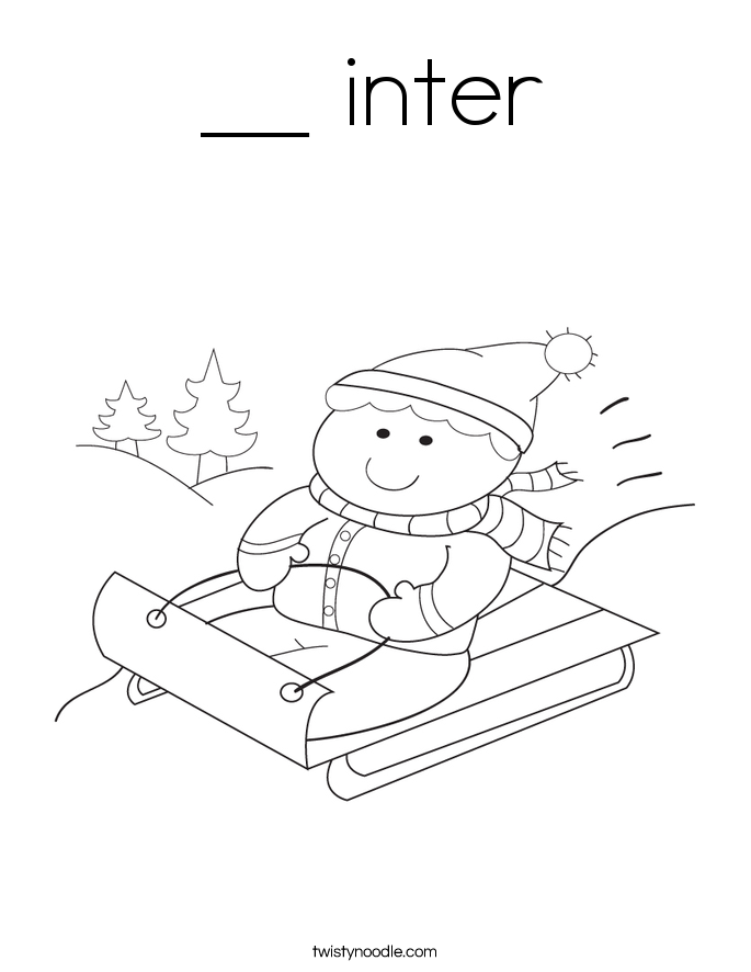 __ inter Coloring Page