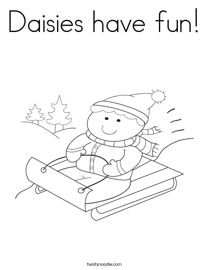 Daisies have fun! Coloring Page