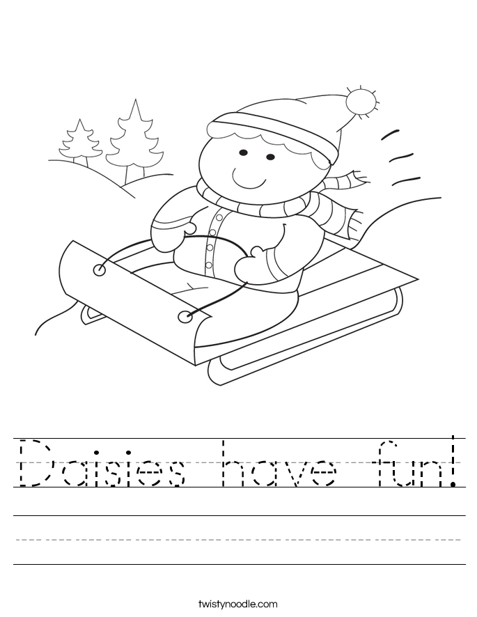 Daisies have fun! Worksheet
