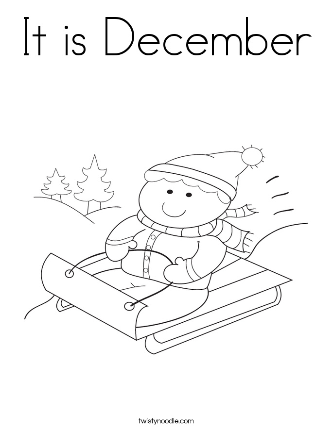 It is December Coloring Page