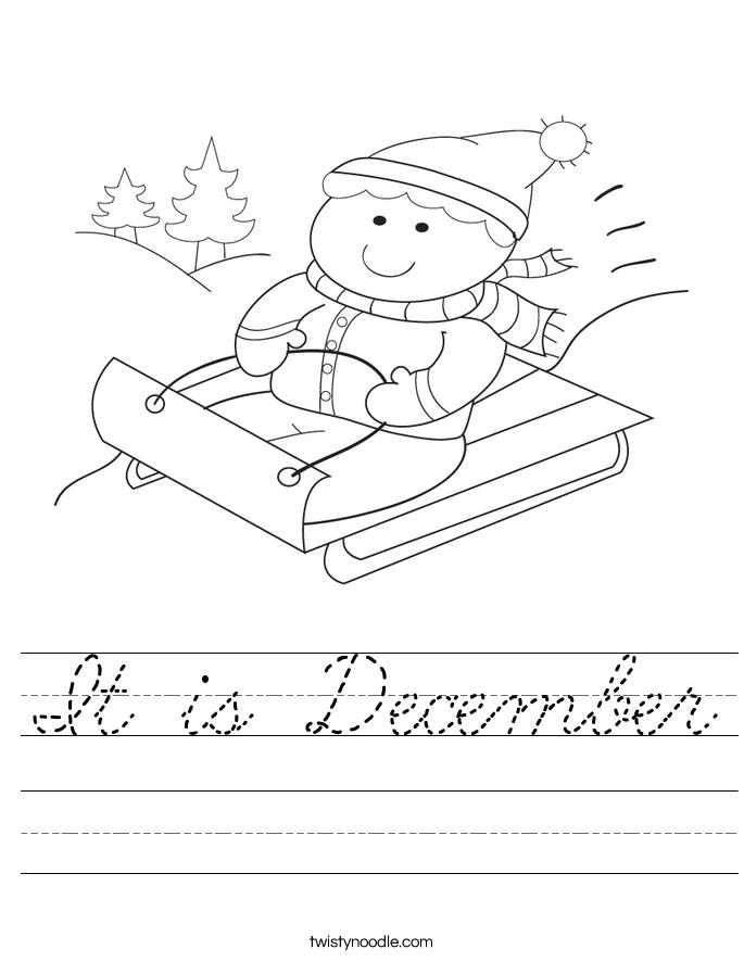 It is December Worksheet