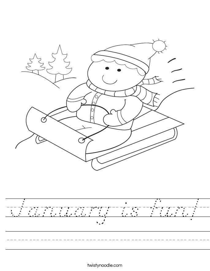 January is fun! Worksheet