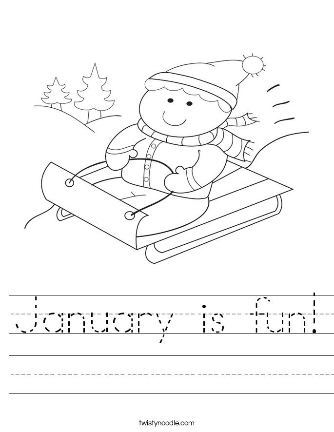 January is fun! Worksheet
