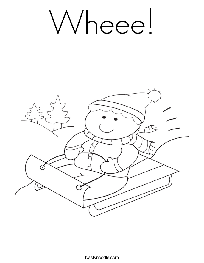 Wheee Coloring Page - Twisty Noodle