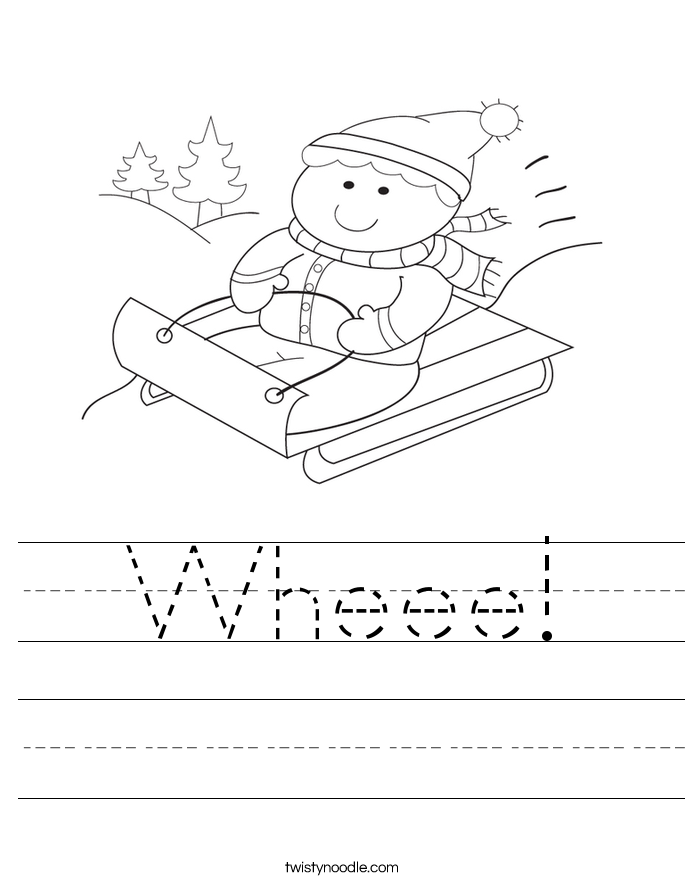 Wheee! Worksheet