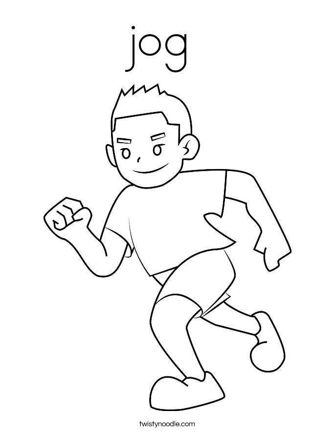 jog Coloring Page Twisty Noodle