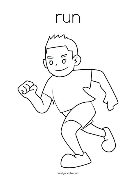running coloring pages run Coloring Page   Twisty Noodle running coloring pages