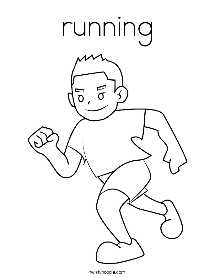 running a race coloring pages - photo#4