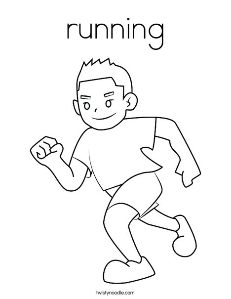 boy running coloring page - Flash Running Coloring Pages
