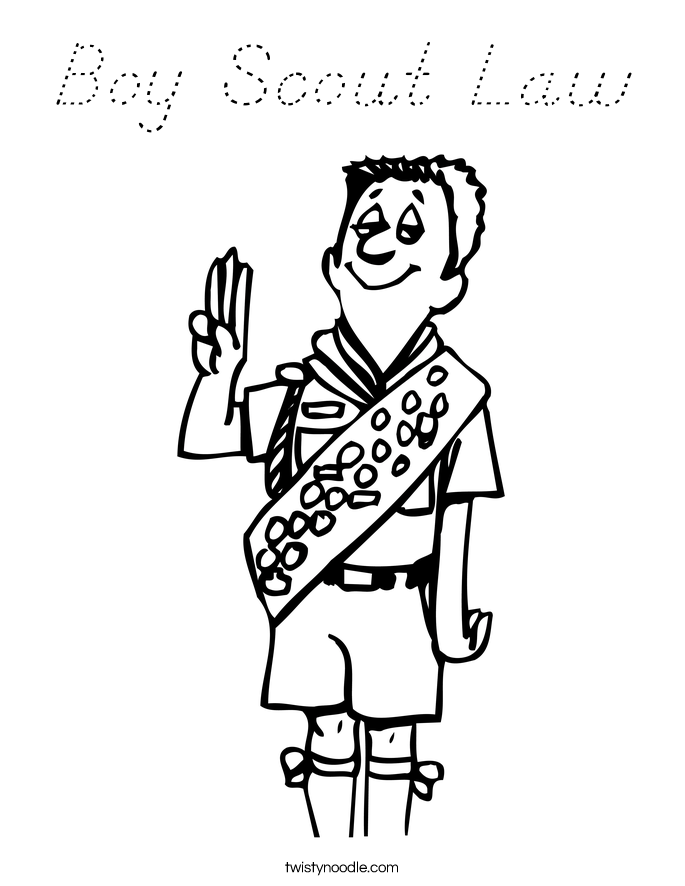 Boy Scout Law Coloring Page