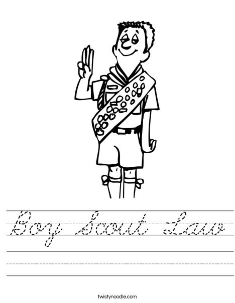 Boy Scout Salute Worksheet