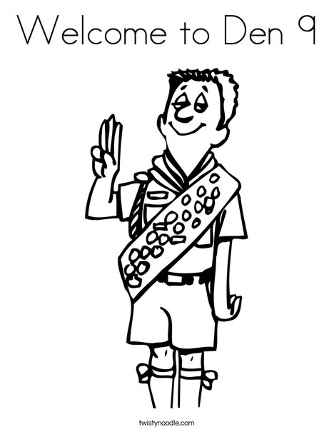 Boy Scout Salute Coloring Page