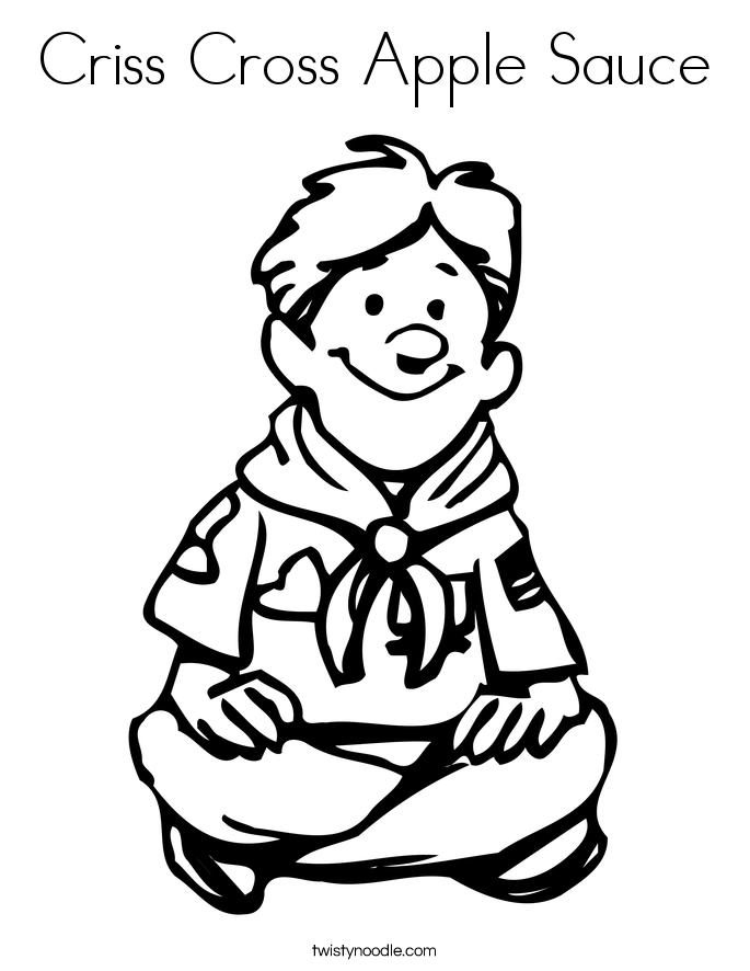 Criss Cross Apple Sauce Coloring Page