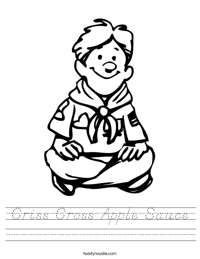 Criss Cross Apple Sauce Worksheet