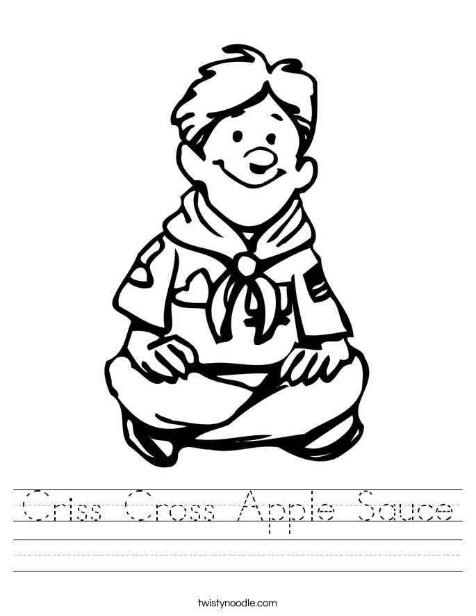 Criss Cross Apple Sauce Worksheet
