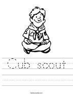 Cub scout Handwriting Sheet