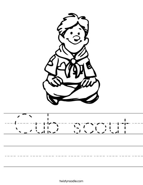 Boy Scout Sitting Worksheet