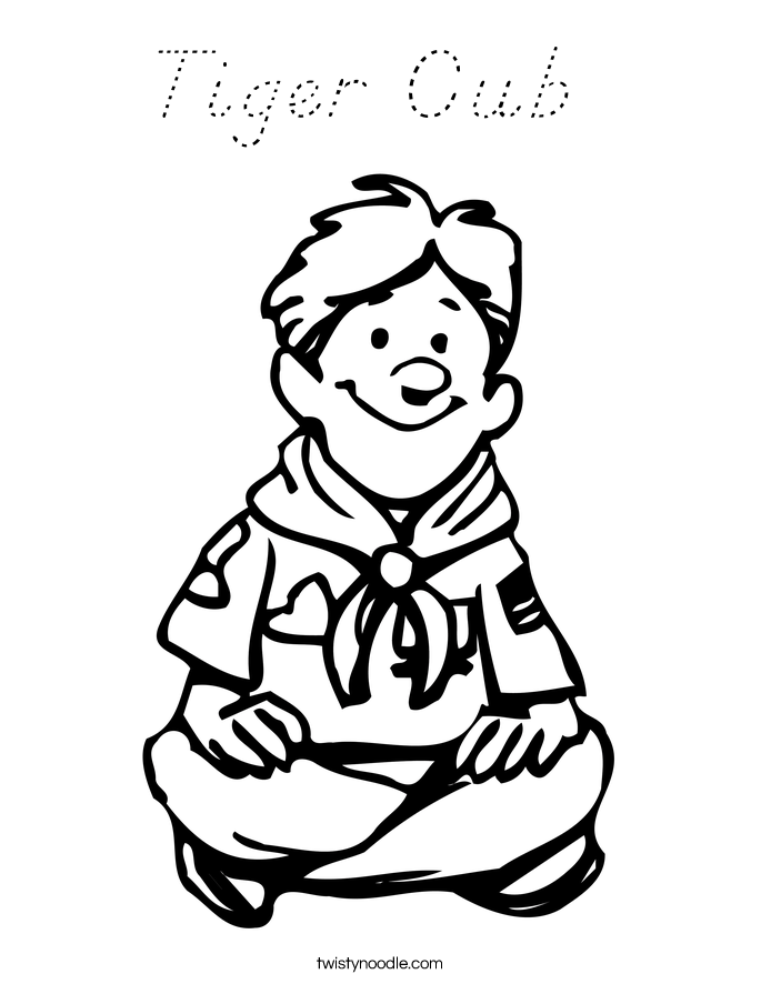 Tiger cub coloring page d 39 nealian twisty noodle for Coloring pages tiger cubs