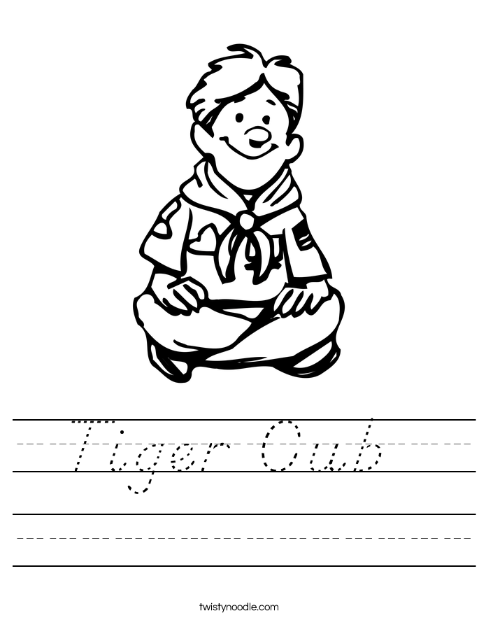 Tiger Cub  Worksheet