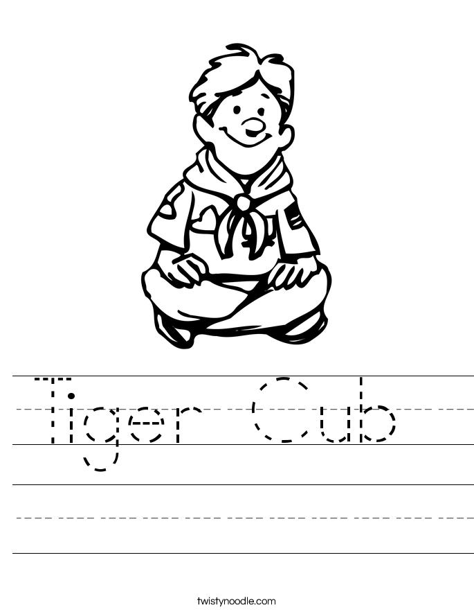 Tiger Cub  Worksheet