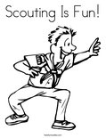 Scouting Is Fun!Coloring Page