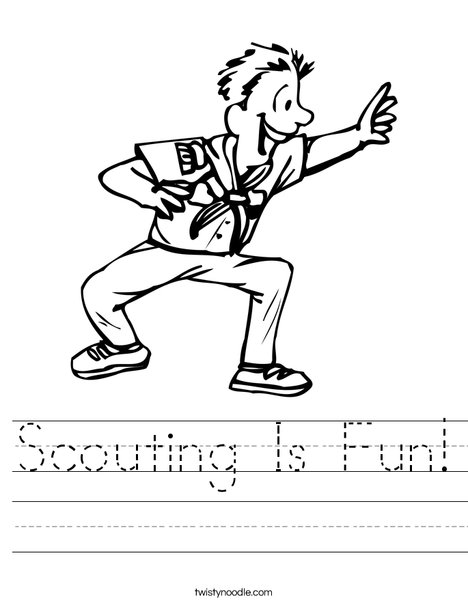 Boy Scout Worksheet
