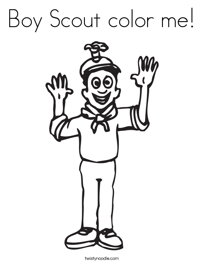 Boy Scout color me! Coloring Page