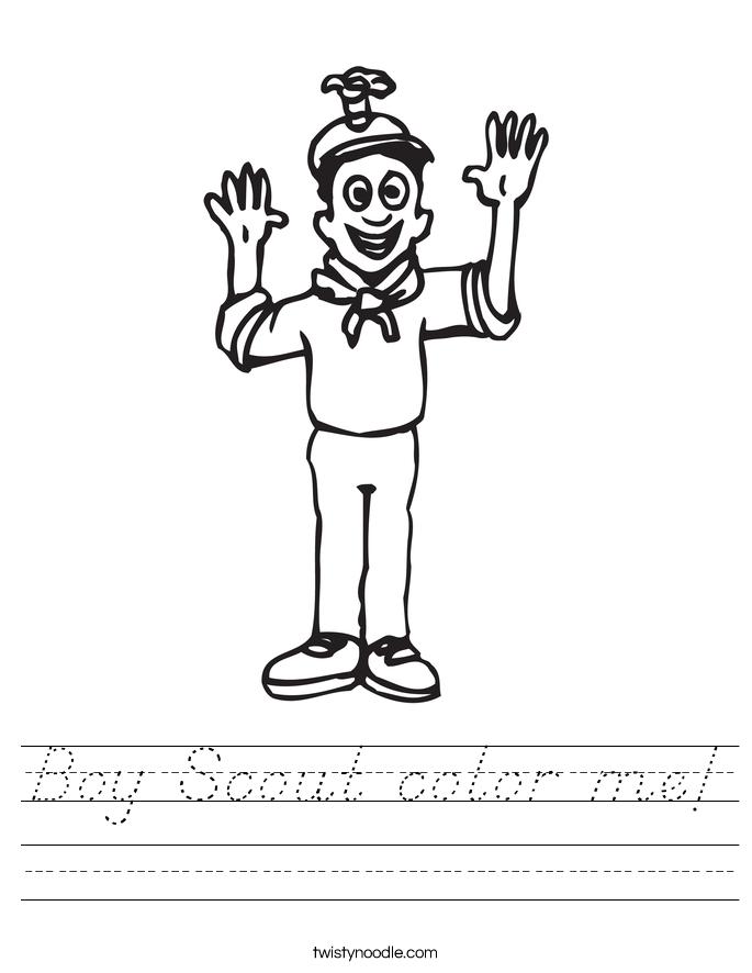 Boy Scout color me! Worksheet