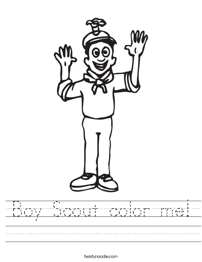 Boy Scout color me! Worksheet