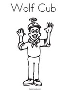 Wolf Cub  Coloring Page
