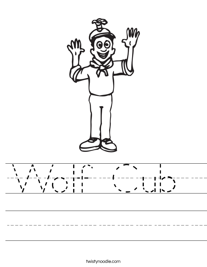 Wolf Cub  Worksheet