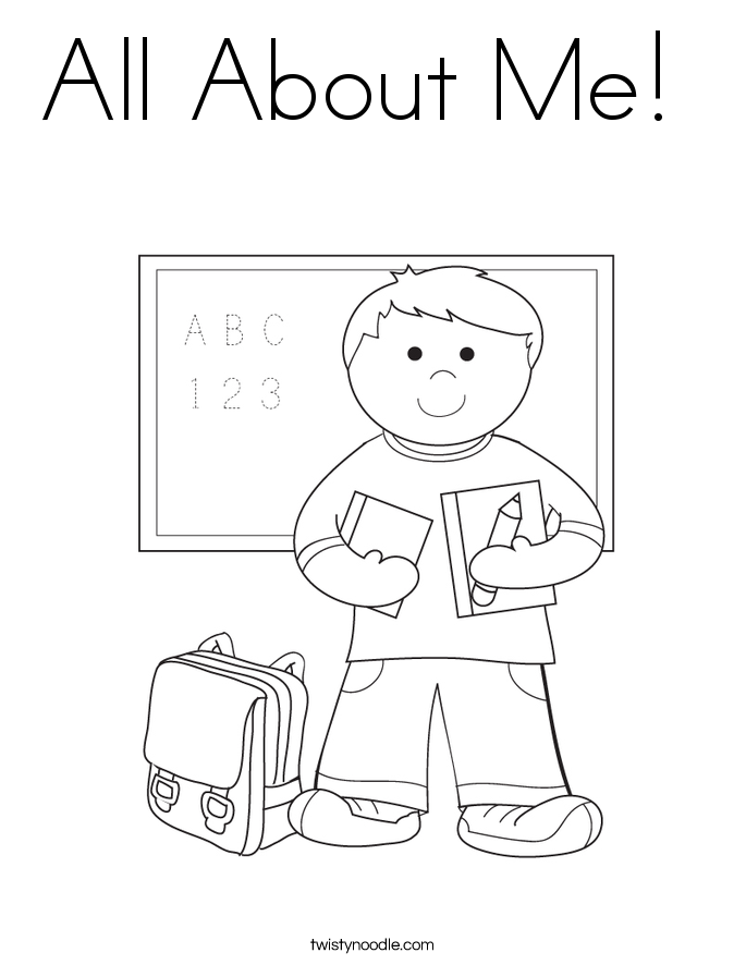 all about me coloring page - All Coloring Pages