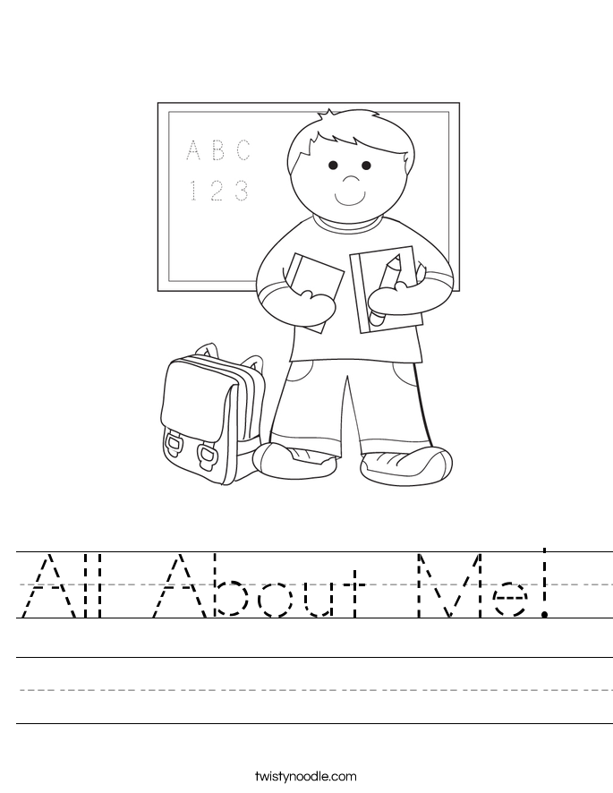 All About Me Worksheet - Twisty Noodle