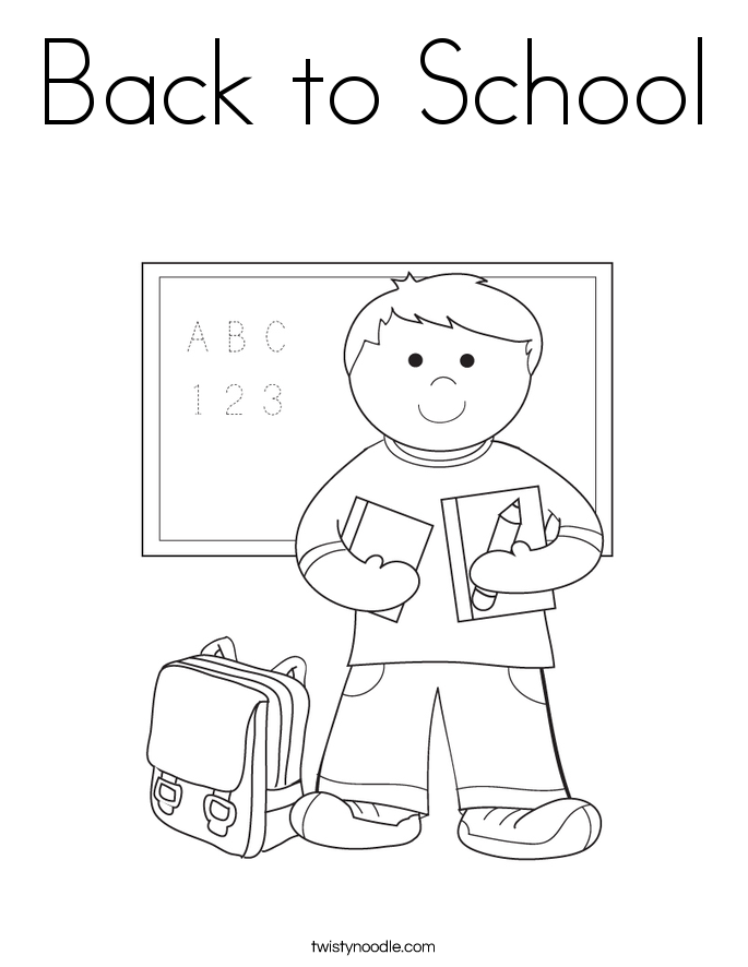 back to school coloring page - Coloring Page Of A School