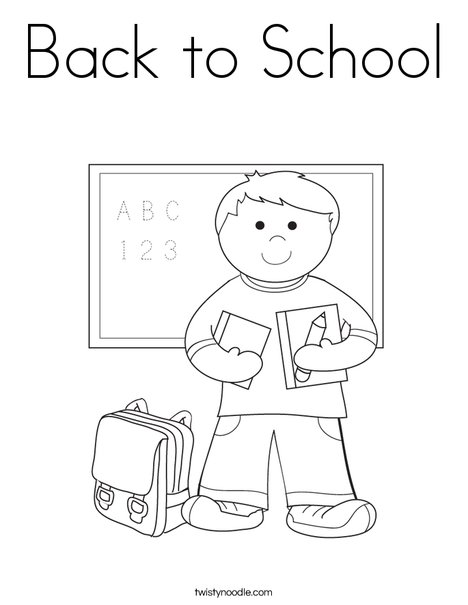 boy student in school coloring page - Welcome Back To School Coloring Pages