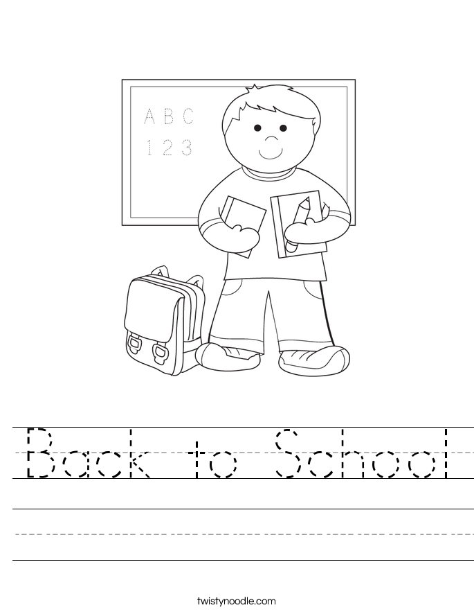 Back To School Worksheet Twisty Noodle Day Of School Coloring Pages For Kindergarten