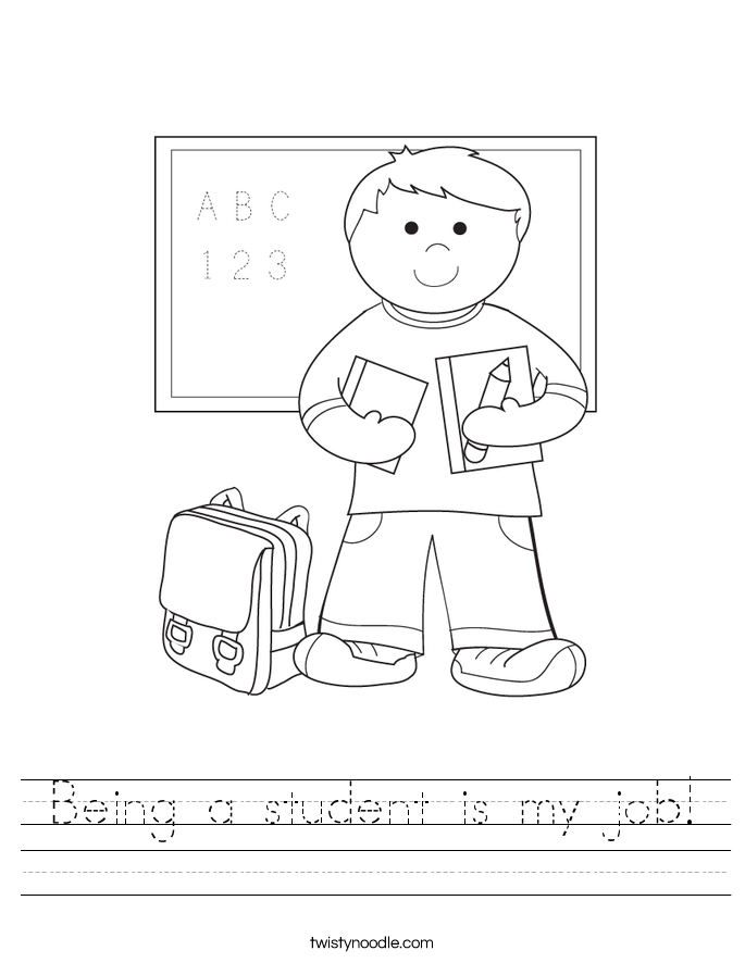Being a student is my job! Worksheet
