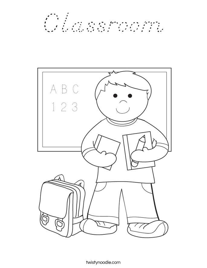 Classroom Coloring Page