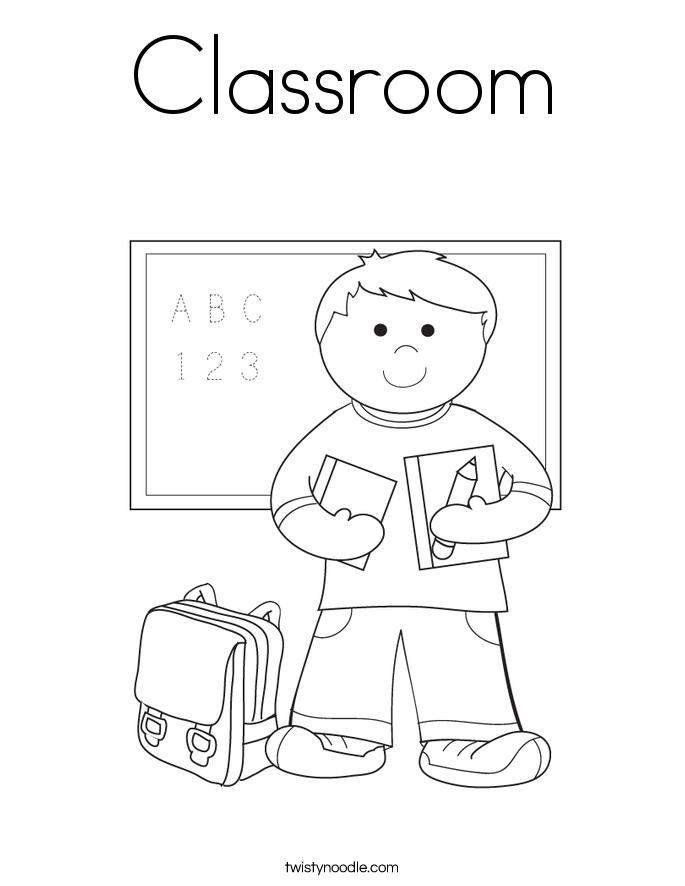 classroom coloring pages