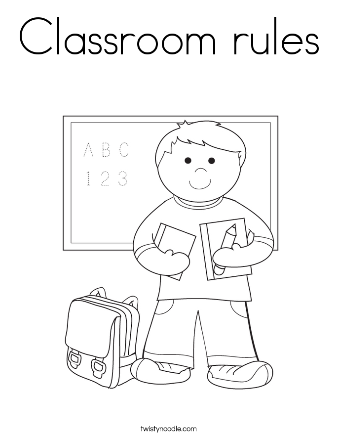 Classroom rules Coloring Page - Twisty Noodle