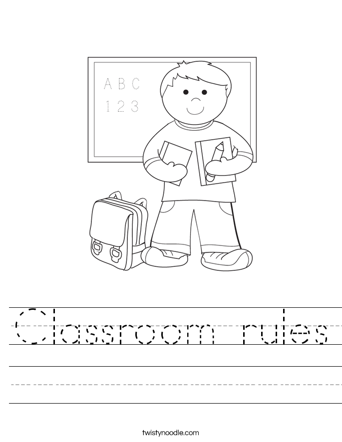Classroom Rules Worksheet Twisty Noodle